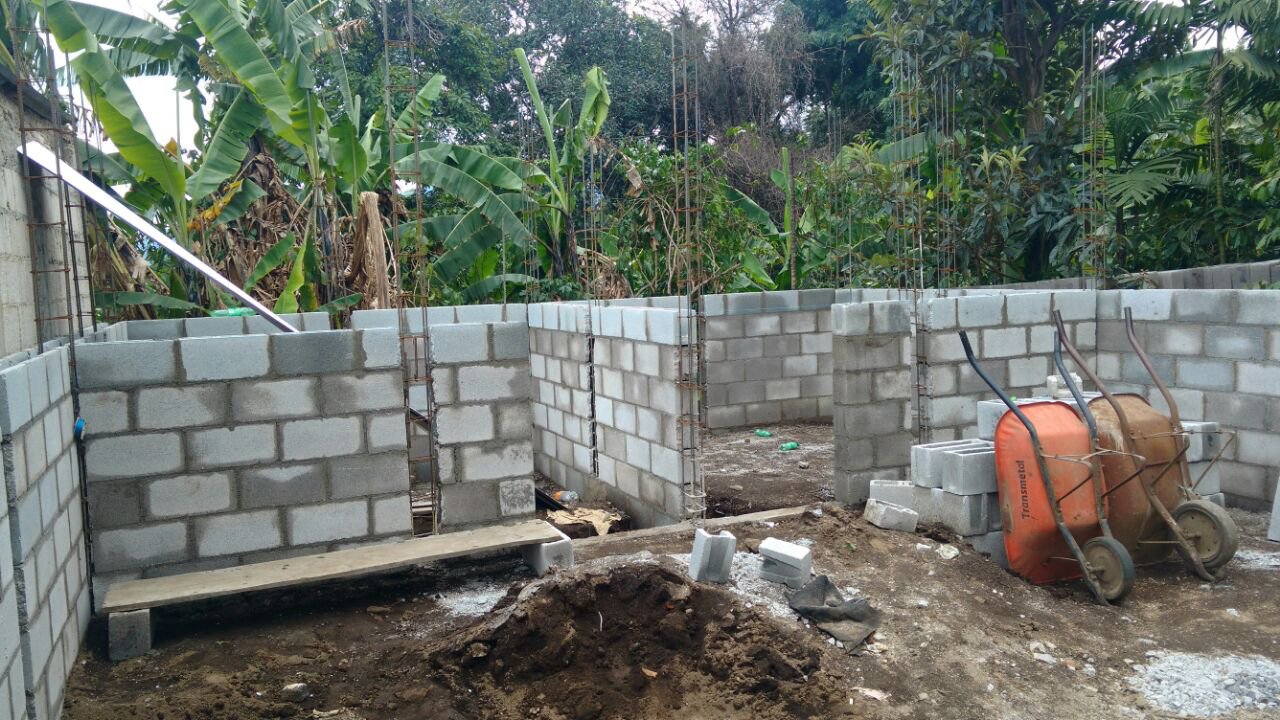 Foundation being built for the Volcano Relief Project